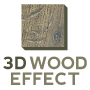 Povrch 3D Wood effect